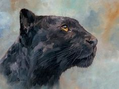 Painting - Black Panther by David Stribbling