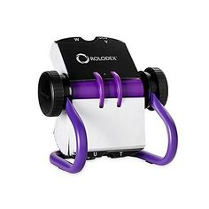 Rolodex Open Rotary Business Card File, 200-Card, Purple (1819543) in Business & Industrial,Office,Office Supplies   eBay