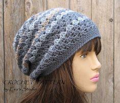 Crochet Hat Pattern  Slouchy  Hat Crochet Pattern от EvasStudio