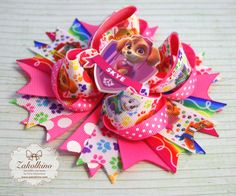 Paw Patrol Skye - Big hair bow - Hot Pink hair bow - Boutique hair bow - Skye…