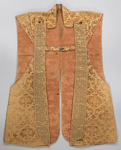 17th c., Chinese textile for European market, lined with Chinese textile.
