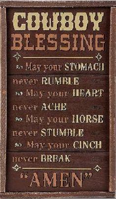 Cowboy Blessing.