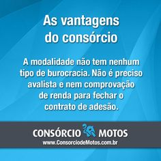 #DicasParaMotos  Você que está querendo comprar uma moto, precisa saber mais sobre o consórcio. Este plano permite que você realize o sonho de comprar um modelo em pequenas parcelas, sem comprometer o seu orçamento mensal. Veja: https://www.consorciodemotos.com.br/noticias/as-vantagens-de-comprar-uma-moto-pelo-consorcio?idcampanha=288utm_source=Pinterestutm_medium=Perfilutm_campaign=redessociais