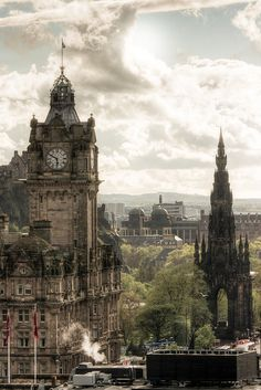 Edinburgh, Scotland.  I was going to visit this coming summer for an annual theatre festival (The Fringe), but I'm afraid we did not have enough people in my theatre troupe that signed up to go in time. :( Oh, well. Someday! :)