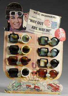 1967 shop display of Spec-Trim Sunglasses featuring Annette Funicello.