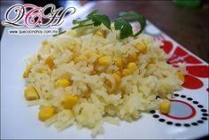 Arroz blanco con granos de elote / Comida casera, fácil de preparar. // easy, fluffy and moist!