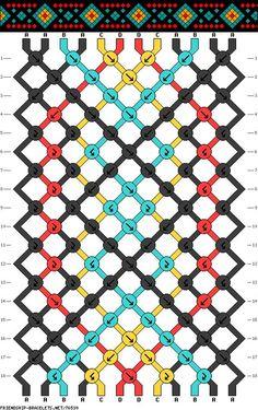 #76539 - friendship-bracelets.net 4 couleurs / 12 fils