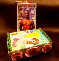Tupac with Lisa Frank design matchbox by Aspen