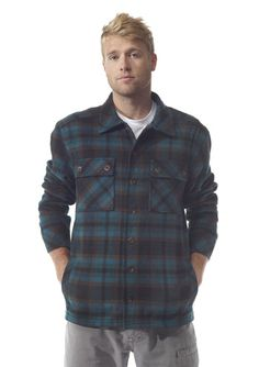 KAVU Dexter Jacket-Everglade-XS-Relaxed collar, two chest flap pockets with button closure, lower welt pockets, straight hem, specialty buttons, thick thread and double needle reinforced seams.