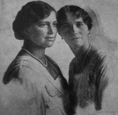 Maria and Olga in 1916