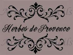 Herbes de Provence Scroll Brackets Stencil 10x13