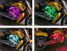 Harley-Davidson V-Rod Motorcycle Light Installation