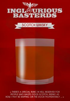 Inglourious Basterds (2009) ~ Minimal Movie Poster by Mathieu Laprie ~ Drinks in Movies Series #amusementphile