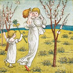 Kate Greenaway, Mother and Children