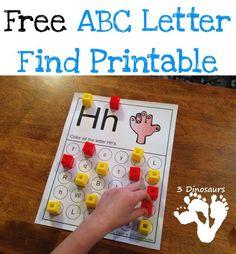 ABC Letter Find Printable for the Whole Alphabet {Free} Preschool Letters, Kindergarten Literacy, Preschool Learning, Preschool Ideas, Teaching Kids, Teaching Resources, Teaching The Alphabet, Learning Letters, Alphabet Activities