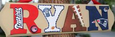 New England Patriots Plaque  Customize Name Colors by MyAngioletto