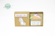 Funny Inspired Cards/ Bunny Rabbit Matchbox Card/ Greeting Card by JumitaGifts