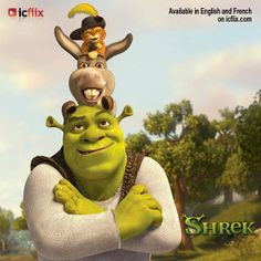 Shrek 1, available in English and French on icflix.com #Movies #Shrek #MikeMyers #EddieMurphy #CameronDiaz