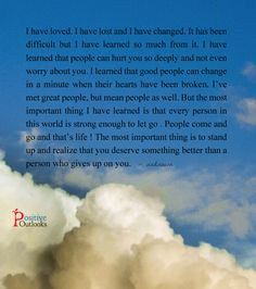 People Will Come And Go, That's Life! | Positive Outlooks Blog