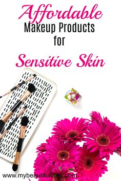 Talc-free makeup products that are great for sensitive skin. Affordable makeup. Drugstore makeup. Healthy Skin.