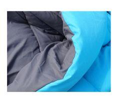 Aqua/Granite Gray Reversible Comforter - Twin XL