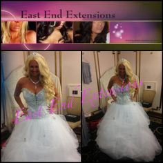 """Check out my client Amanda wearing my extensions from my line """"Glam Rock Extensions"""" on her debut of """"say yes to the dress""""! And """"my big over the top wedding!"""" New blog coming this week on my website! Awesome daily tips for extensions!  Answering all your questions! Www.eastendextensions.com #hairextensions #extensions #blog #faq #tips #"""