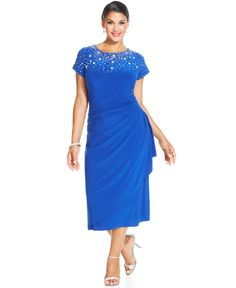 Alex Evenings Plus Size Sequined Lace Gown | Shops, Mothers and Sleeve