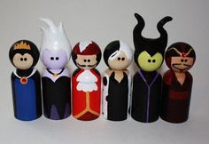 Hey, I found this really awesome Etsy listing at https://www.etsy.com/listing/228098308/disney-villains-hand-painted-peg-dolls