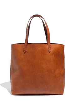 Leather Tan Tote Bag.....