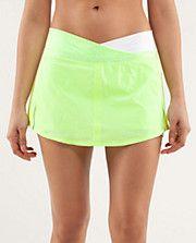 RUN: Pace Skirt | Lululemon. Want to run my first half-marathon in a skirt. LIke this v-waist.