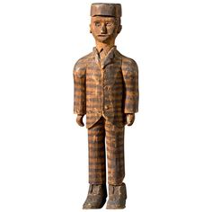 Hand Carved Prison Figure | From a unique collection of antique and modern toys at http://www.1stdibs.com/furniture/more-furniture-collectibles/toys/