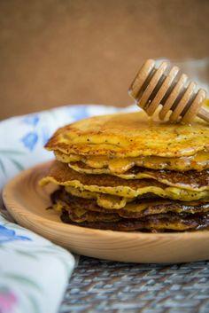 Frango do Campo: Panquecas de lima, requeijão e mel
