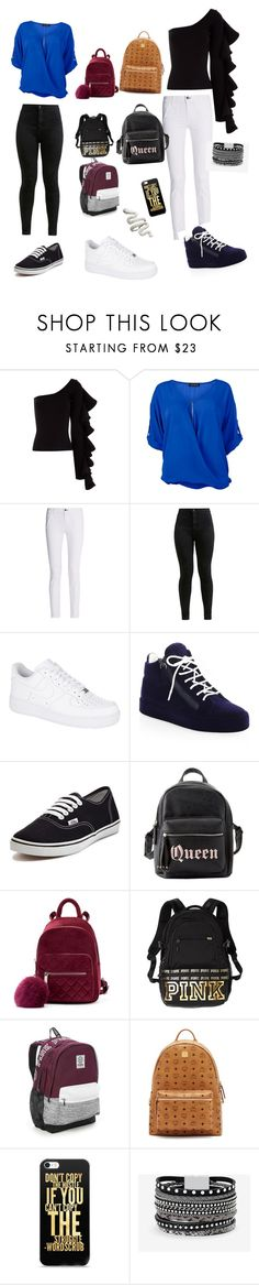"""Outfits just to go out"" by jazziemckinnon on Polyvore featuring Beaufille, Venus, rag & bone, NIKE, Giuseppe Zanotti, Vans, Charlotte Russe, Victoria's Secret PINK, Victoria's Secret and MCM"