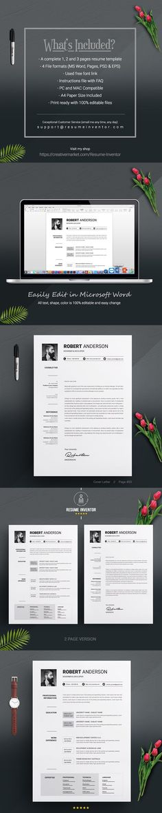 69 best Simple Resume Templates images on Pinterest in 2018 Cv - resume 1 or 2 pages