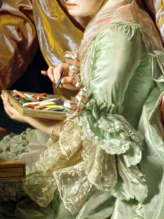 """"""" Self-portrait with his wife, Marie Suzanne Giroust, Detail. by Alexander Roslin, 1767 """""""