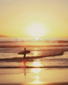 Surfer Walking the Beach - 8X10 California Surfing Photo