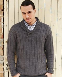 27 – Shawl Collared Sweater | Knitting Fever Yarns & Euro Yarns