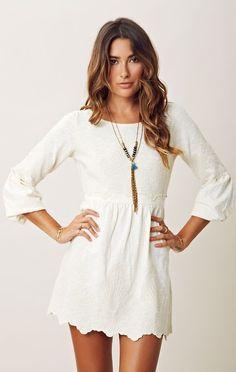 Crochet-Embellished Mini Dress