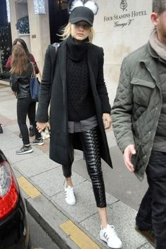 Gigi Hadid Street Style  more details Clothing, Shoes & Jewelry - Women - leggings outfit for women - http://amzn.to/2kxu4S1