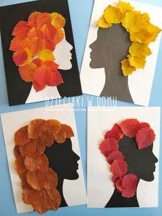 Fall leaf craft for kids / Jesienne stylizacje - praca plastyczna dla dzieci