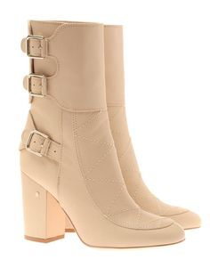 Browns fashion & designer clothes & clothing | LAURENCE DACADE | 'Merli' Nude Leather Biker Boots