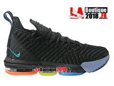 Nike Lebron 16 EP LBJ Noir/Bleu/Orange Chaussures Officiel Nike Basket Prix Pour Homme