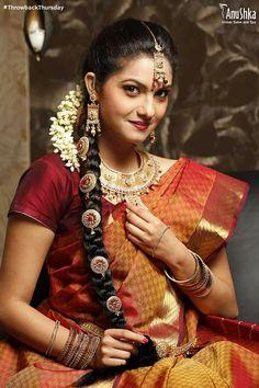 A #SouthIndian #Bride. #TBT #IndianWedding #Bridal #Makeup #CelebrityStylist #ShibaniNelson #WeddingSaree