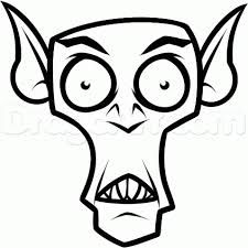 image result for draw scary bat - Cartoon Halloween Drawings