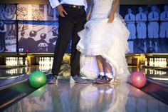Add a little fun to your wedding day at Pinstripes in Oak Brook! (Photo credit to O'Malley)