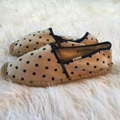 Tan & Navy Blue Soludos Espadrilles Brand new, never worn! Size 38. Soludos Shoes Espadrilles
