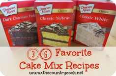 36 **FAVORITE** Cake Mix Recipes