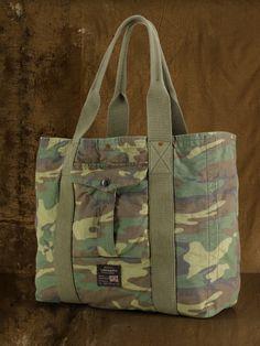 Camouflage Cotton Tote - Denim & Supply Bags & Business - RalphLauren.com
