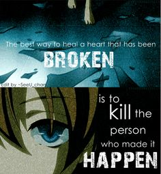 That is kinda morbid, but it is a cool edit all the same. From Anime Feel More (facebook)