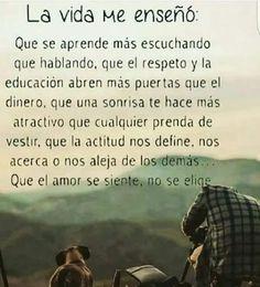 ''La Vida'...'' - Pau. Aguirre - Google+ Pretty Quotes, Love Me Quotes, True Quotes, Best Quotes, Latinas Quotes, Cute Spanish Quotes, Life Rules, Special Quotes, Yoga